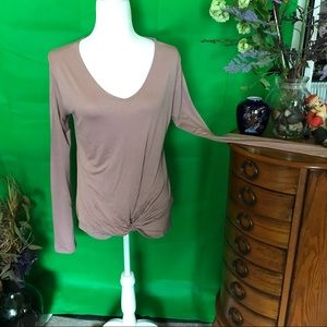 NWOT Long sleeve dressy tee from Active USA. Mauve